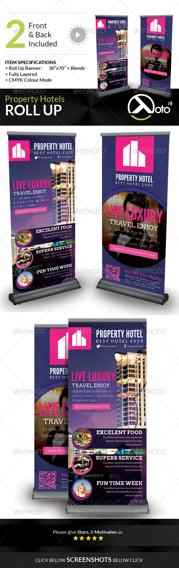 GraphicRiver Property Hotel Roll Up Banners 7025585