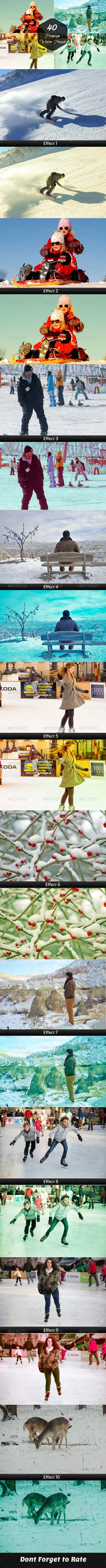 GraphicRiver 40 Premium Winter Lightroom Presets 7025818