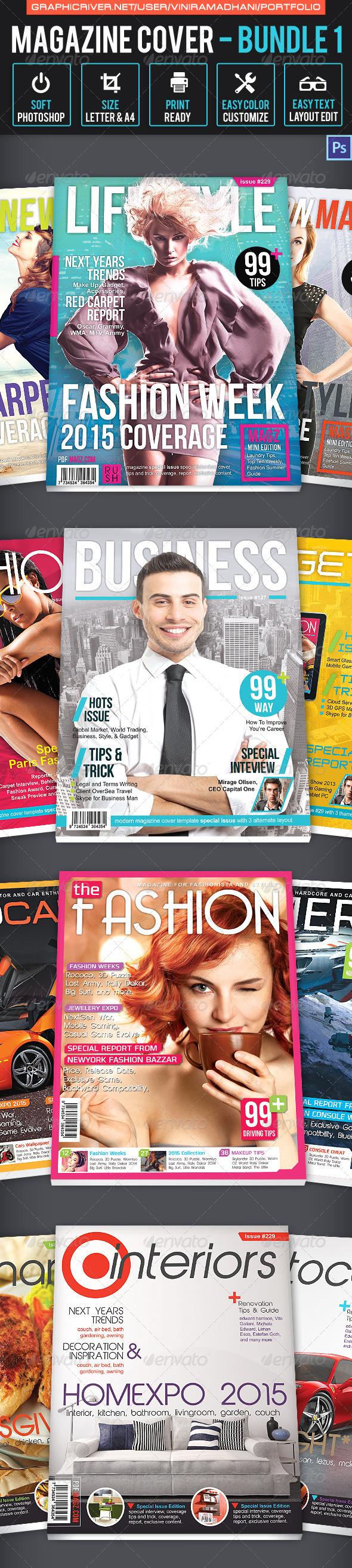 GraphicRiver Magazine Cover Bundle 1 7026376