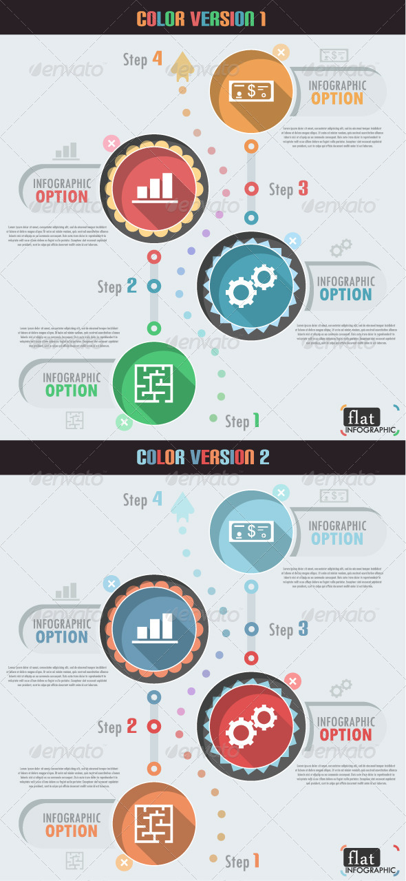 GraphicRiver Flat Infographic Banner Two Versions 7026423