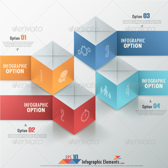 GraphicRiver Modern Infographics Options Banner With Cubes 7026516