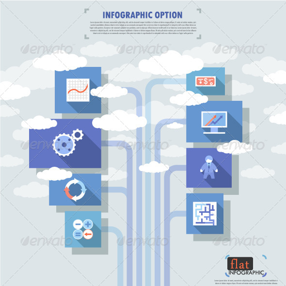 GraphicRiver Flat Infographic Banner With Icons 7026629