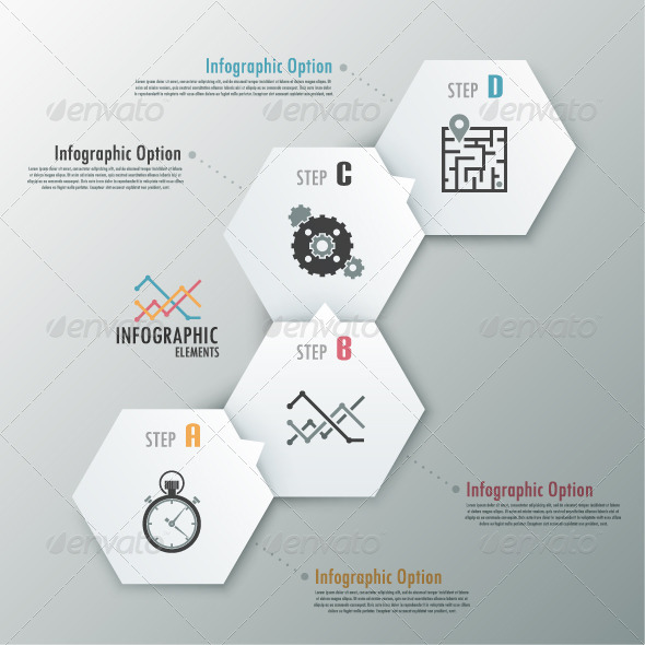 GraphicRiver Modern Infographic Options Banner With Polygons 7026737