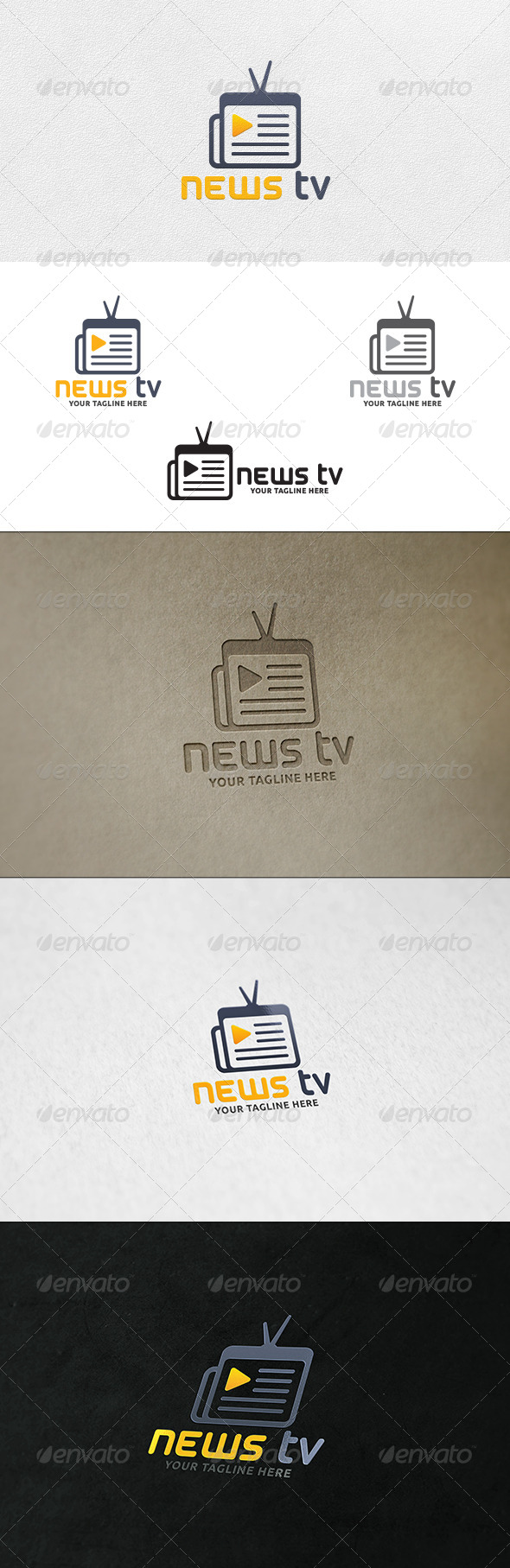 GraphicRiver News TV Logo Template 7026853