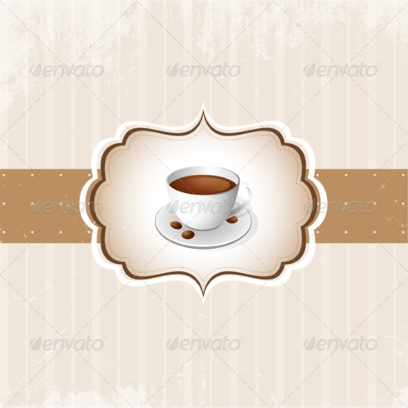 GraphicRiver Vintage Coffee Background 7026961