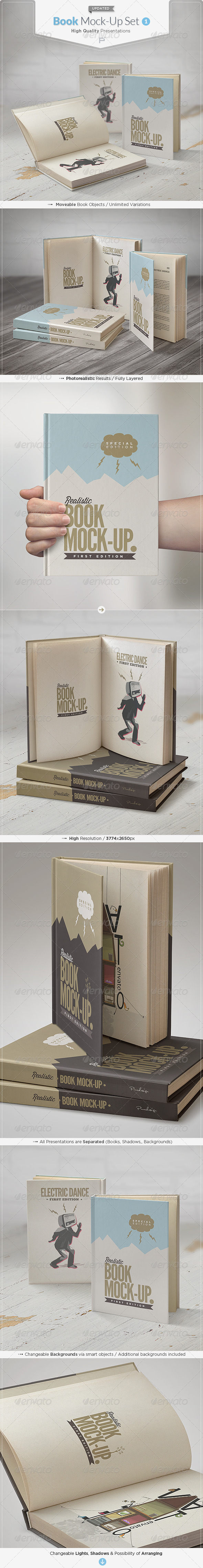 Book Mock-Up Set - Books Print