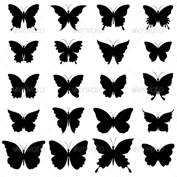 GraphicRiver Set of Butterflies for Design 7026973