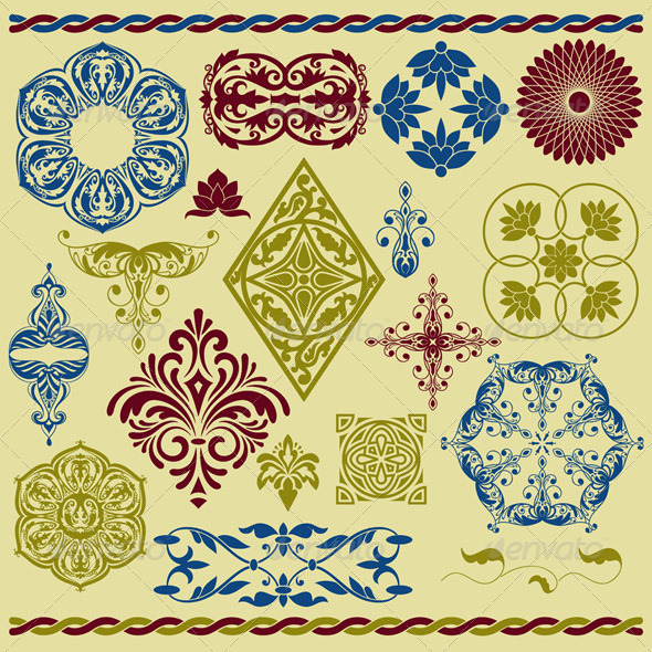 GraphicRiver Floral Design Elements 7027003