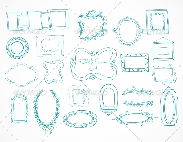 GraphicRiver Collection of Hand Drawn Doodle Frames 7027085