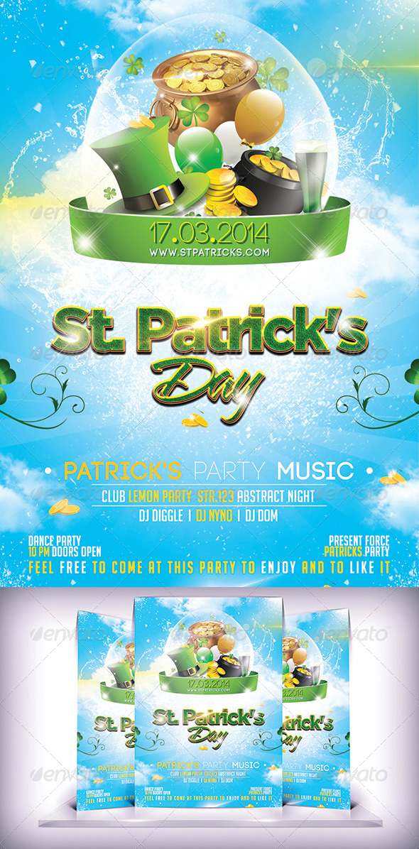 GraphicRiver St Patrick s Day Flyer 7014866