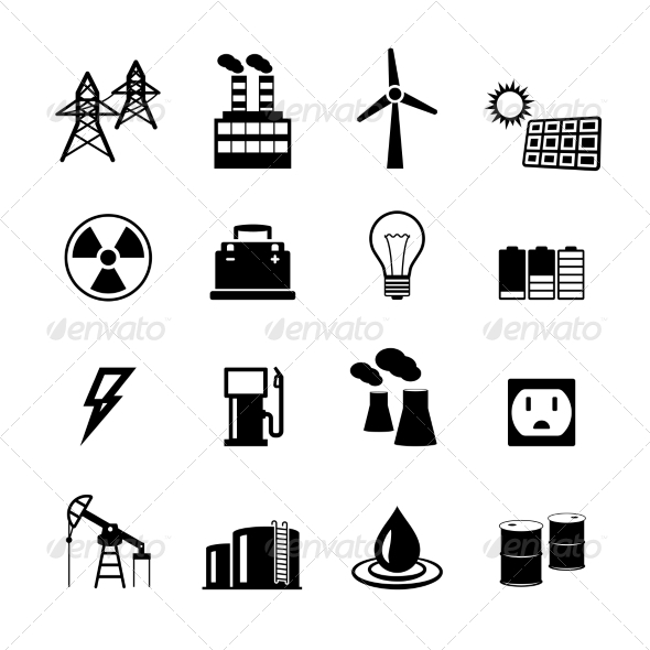 GraphicRiver Energy Power Pictograms Collection 7027123