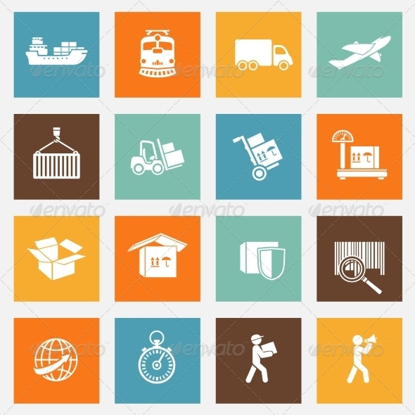 GraphicRiver Logistic Services Pictograms Collection 7027135