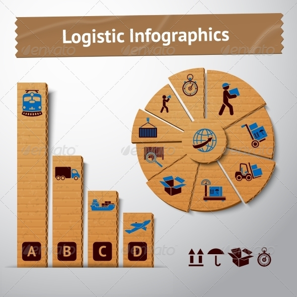 GraphicRiver Logistic Cardboard Infographics Elements 7027168