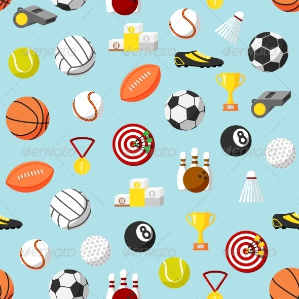 GraphicRiver Seamless Sports Pattern Background 7027301