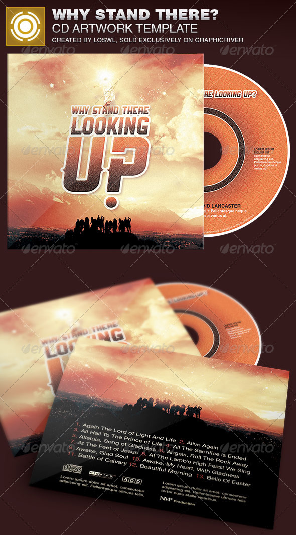GraphicRiver Why Stand There CD Artwork Template 7027404