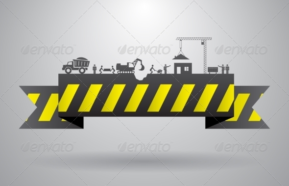 GraphicRiver Yellow Construction Banner for Infographics Title 7027594