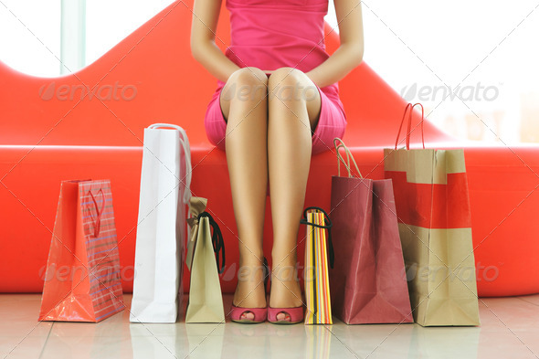 PhotoDune Woman shopping 736221