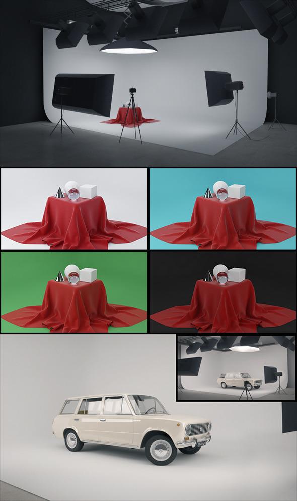 Real Studio Setup for V-ray