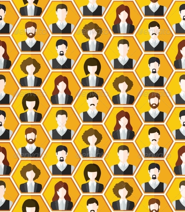 GraphicRiver Seamless Avatar Pattern 7027852