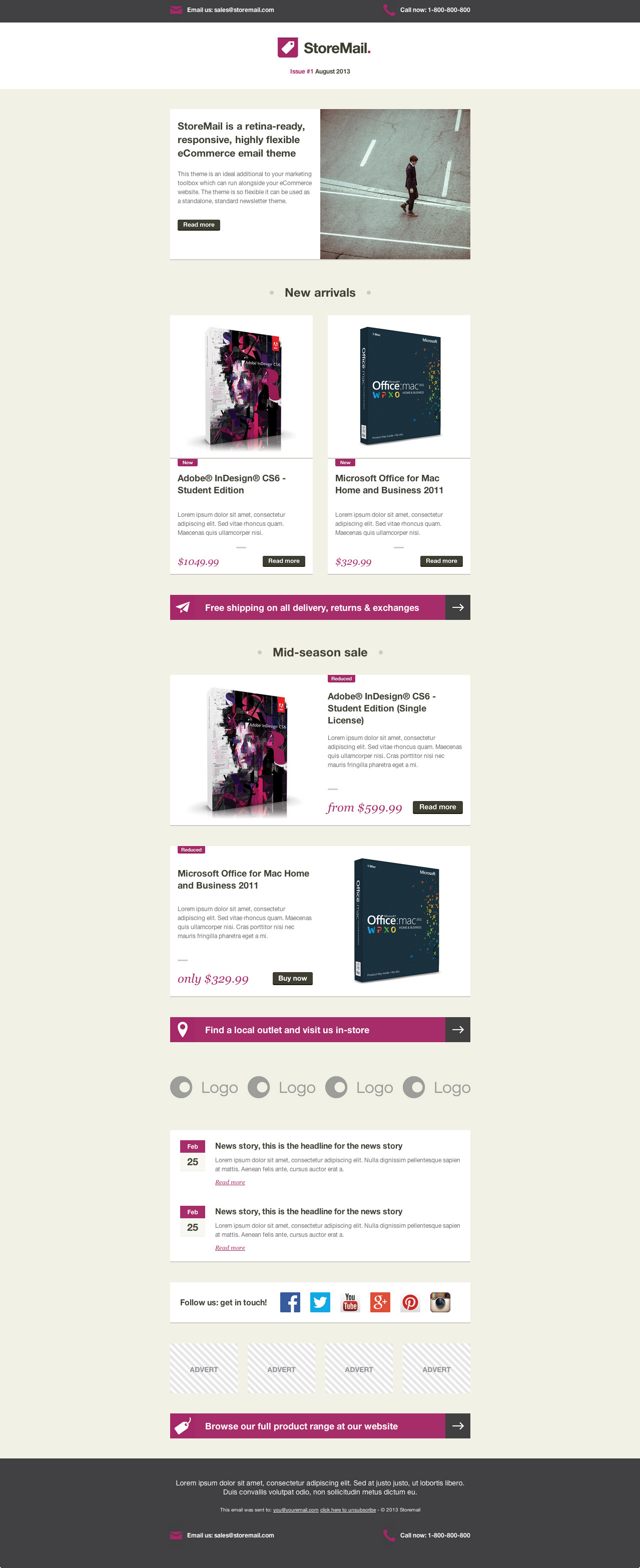 StoreMail: Responsive eCommerce Retina Email Theme