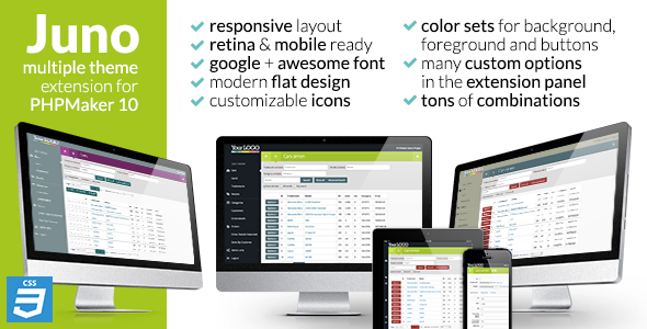 CodeCanyon Juno extension theme for PHPMaker10 7028164