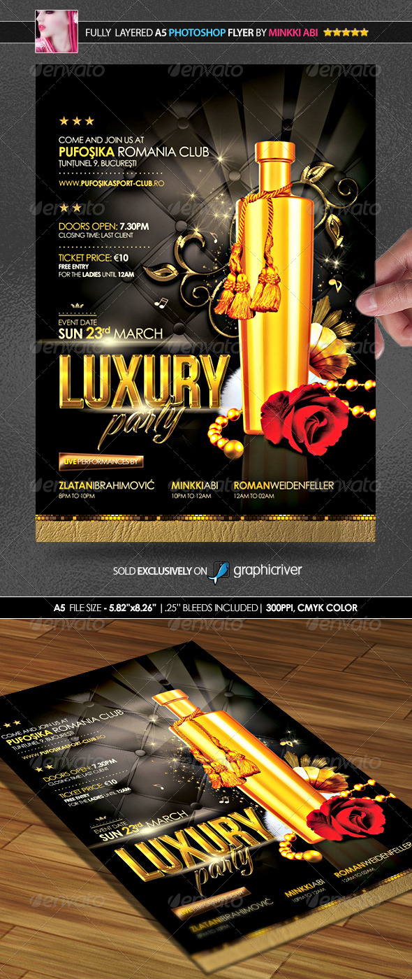 GraphicRiver Luxury Party Poster Flyer 7028433