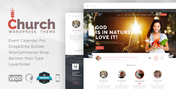 ThemeForest Church and Events Responsive WordPress Theme 7028545