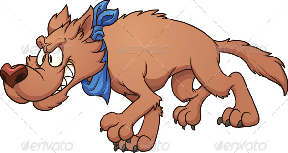 GraphicRiver Cartoon Wolf 7029275