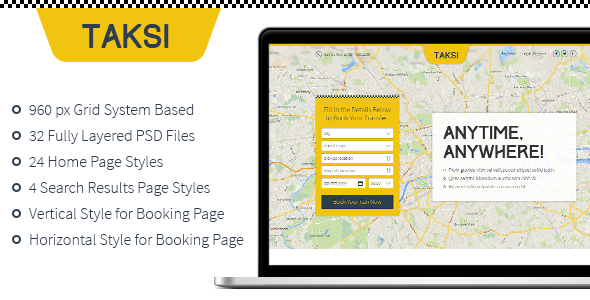 ThemeForest Taksi PSD 6860416