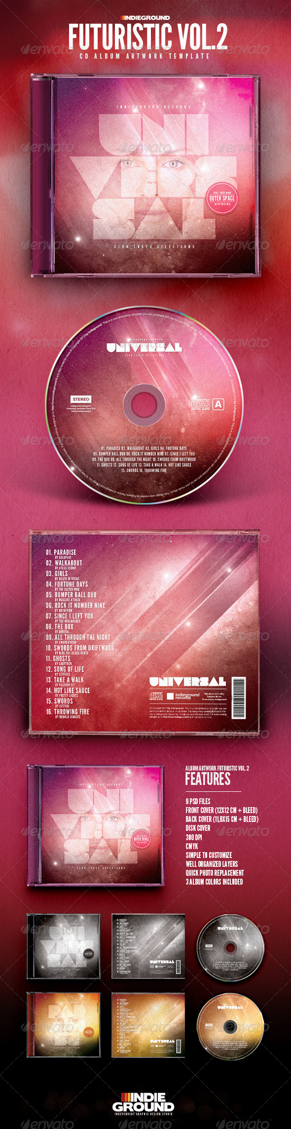 GraphicRiver Futuristic CD Album Artwork Vol 2 7029700