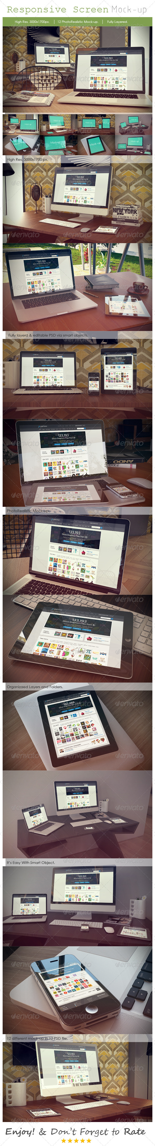 GraphicRiver Photorealistic Device Mock-Ups 7029723