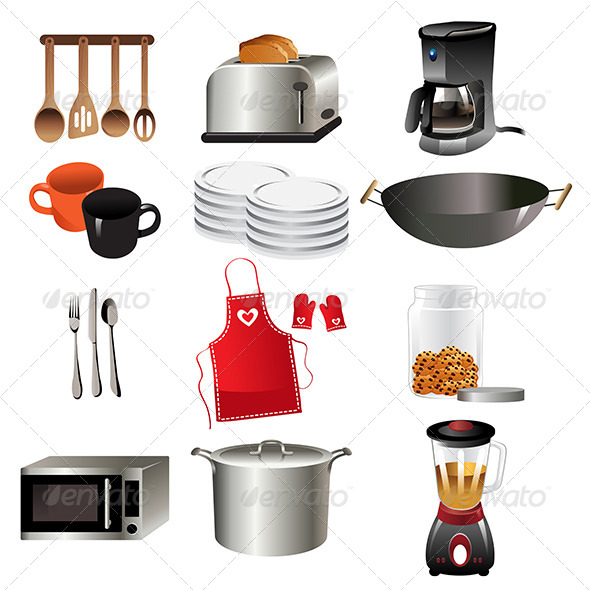 GraphicRiver Kitchen Icons 7029736