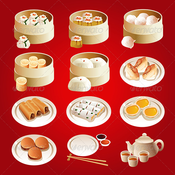 GraphicRiver Dim Sum Icons 7029776
