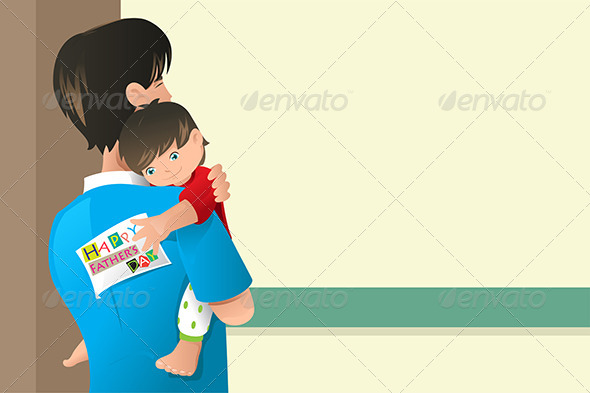 GraphicRiver Fathers Day Card Design 7029828