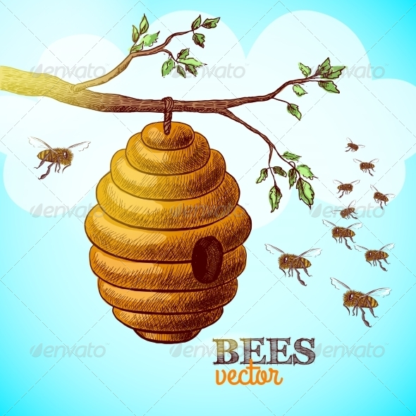 GraphicRiver Hive on Tree Branch 7029848