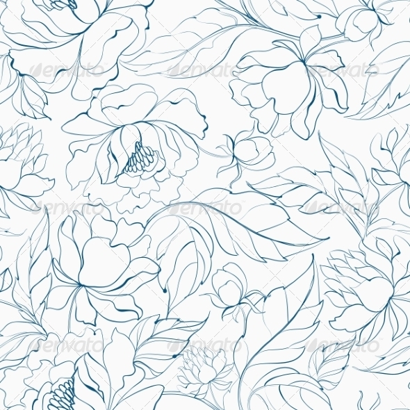 GraphicRiver Seamless Floral Pattern 7029851
