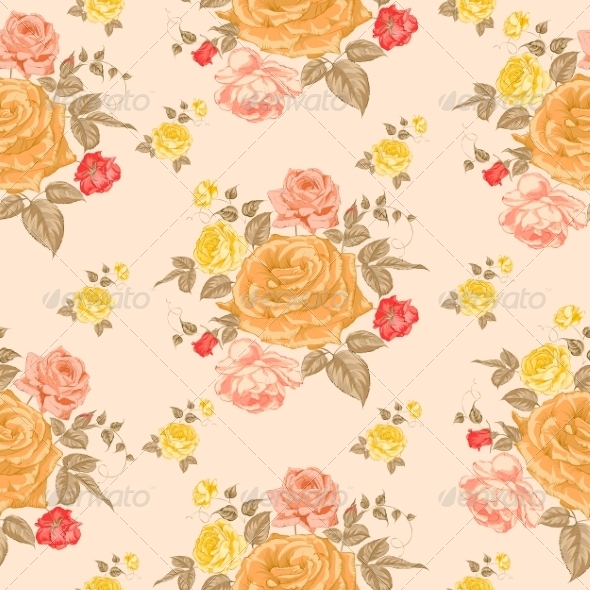 GraphicRiver Seamless Roses Pattern 7029870