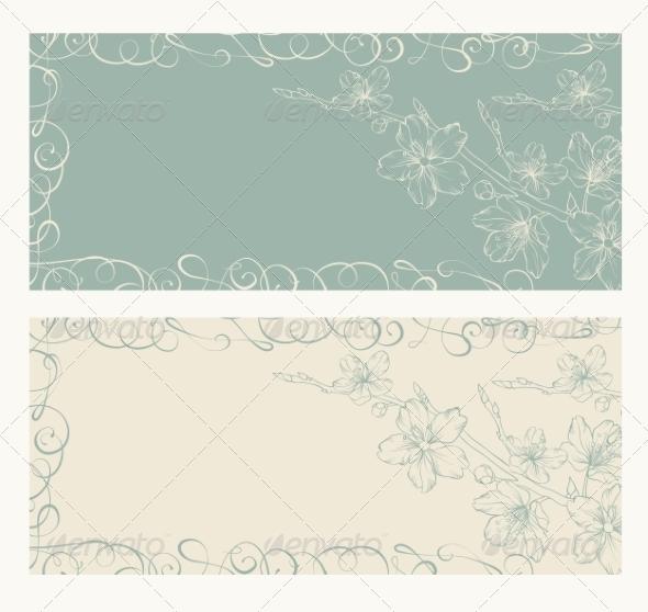 GraphicRiver Decorative Card with Sakura 7029936