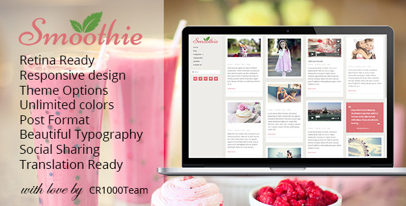 Smoothie - Retina Responsive WordPress Blog Theme