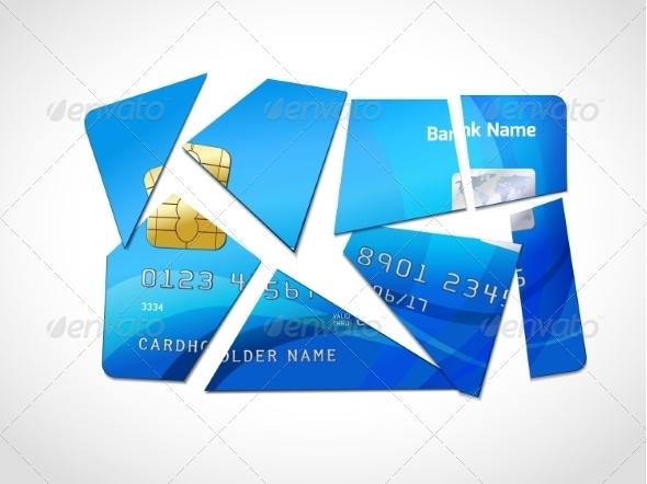 GraphicRiver Debt Bankruptcy Symbol 7030135