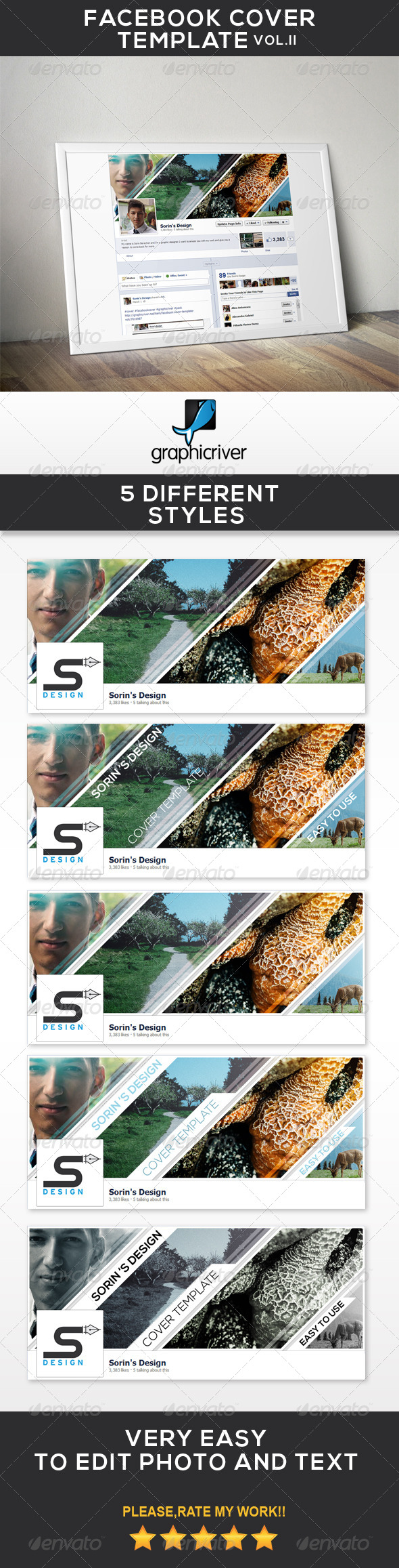 GraphicRiver Facebook Cover Template Vol.II 7030333