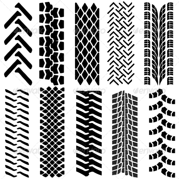 GraphicRiver Tire Prints 7030936