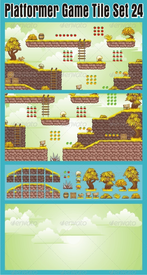 GraphicRiver Platformer Game Tile Set 24 7031136