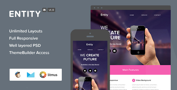 ThemeForest Entity Responsive Email & Themebuilder Access 6976767