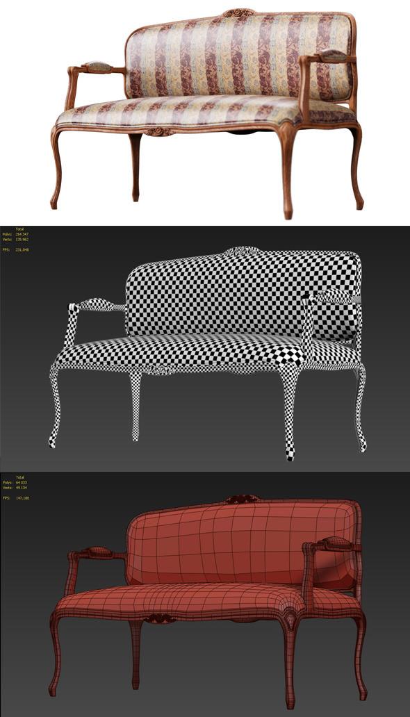 3DOcean Classic sofa 7031227