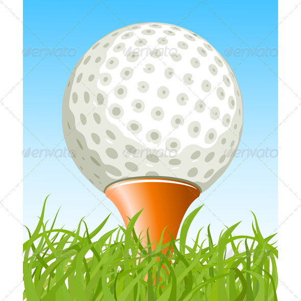 GraphicRiver Golf Ball on the Grass 7031336