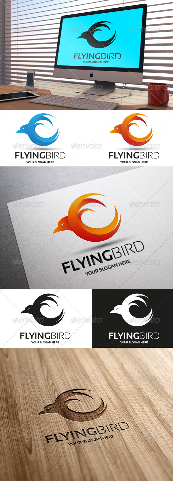 GraphicRiver Flying Bird 7031370