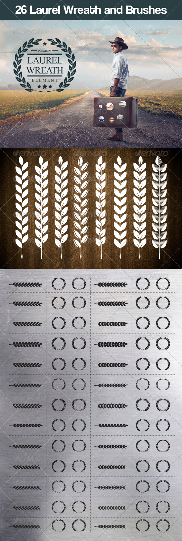 GraphicRiver 26 Laurel Wreath and Brushes 7031527