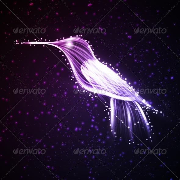 GraphicRiver Neon Hummingbird 7031653