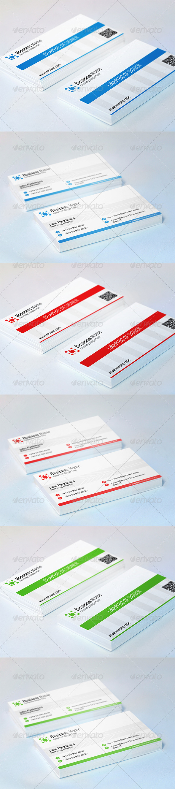 GraphicRiver Corporate Business Card N-003 7031662